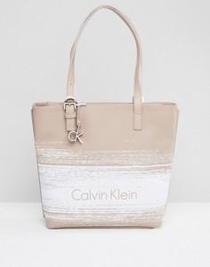 Сумка-шоппер с логотипом CK Jeans - Бежевый Calvin Klein
