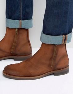 Замшевые ботинки на молнии Jack & Jones - Коричневый
