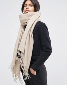 Oversize-шарф в полоску ASOS - Бежевый