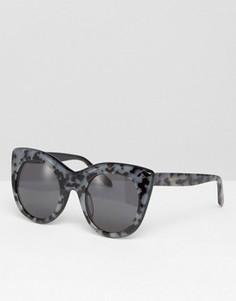 Солнцезащитные очки кошачий глаз ручной работы Vow London - Коричневый