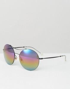 Круглые солнцезащитные очки-авиаторы Gucci - Черный