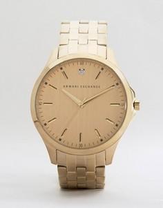 Золотистые часы из нержавеющей стали Armani Exchange AX2167 - Золотой