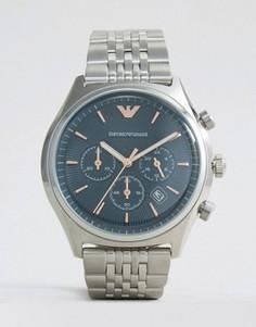 Часы с хронографом из нержавеющей стали Emporio Armani AR1974 - Серебряный