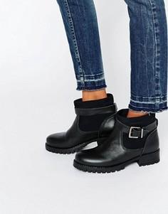 Байкерские ботинки Pieces Vaha - Черный