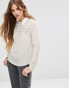 Шелковая блузка Maison Scotch - Кремовый