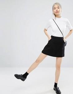 Юбка-трапеция с карманами Monki - Черный