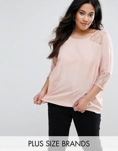 Рубашка с кружевными вставками Junarose Poline - Розовый