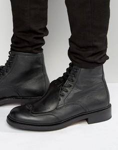 Кожаные ботинки на шнуровке G-Star Guard - Черный