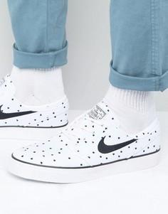 Белые парусиновые кроссовки Nike SB Stefan Janoski 705190-100 - Белый