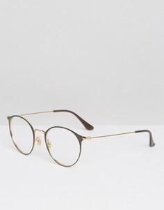 Круглые солнцезащитные очки Ray-Ban 0RX6378 - Черный