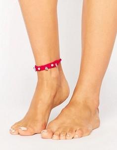 Браслет на ногу с декоративной отделкой ASOS - Розовый