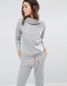 Блестящий свитшот с отворачивающимся воротником Vero Moda - Серый