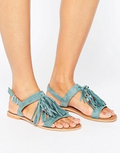 Замшевые сандалии с кисточками Glamorous - Зеленый