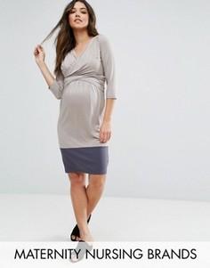 Mamalicious Maternity Nursing Dress - Бежевый Mama.Licious