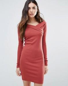 Асимметричное облегающее платье First & I - Мульти
