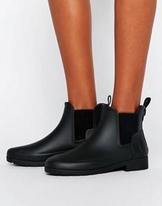 Черные матовые резиновые ботинки челси Hunter Original - Черный