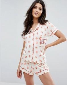 Пижама с шортами Chelsea Peers - Мульти