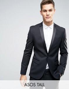 Черный приталенный пиджак ASOS TALL - Черный