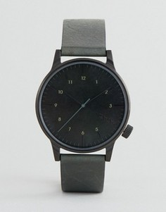 Часы с зеленым кожаным ремешком Komono Winston Regal - Зеленый