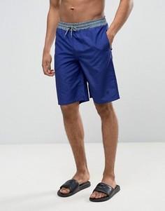 Пляжные шорты с контрастным поясом Wetts - Темно-синий