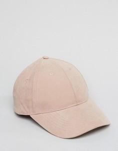 Розовая бейсболка ASOS - Розовый