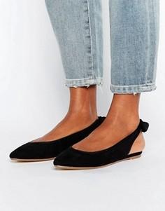 Туфли с острым носом и завязкой на заднике London Rebel - Черный
