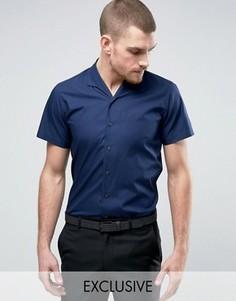 Узкая рубашка в пижамном стиле Hart Hollywood - Темно-синий