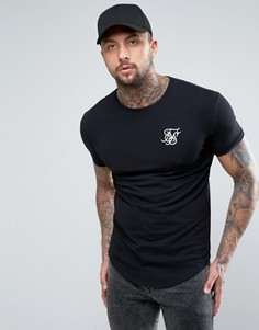 SikSilk Muscle Fit T-Shirt In Black - Черный