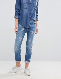 Прямые укороченные джинсы со звездами Hilfiger Denim Lana - Синий