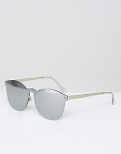 Круглые солнцезащитные очки с серебристыми зеркальными стеклами ASOS - Серебряный