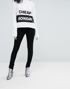 Супероблегающие джинсы с завышенной талией Cheap Monday - Черный