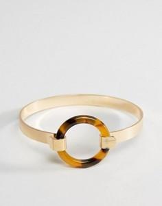 Браслет-манжета с черепаховым кольцом ASOS - Золотой