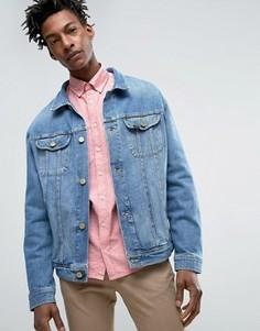 Светлая свободная джинсовая куртка Lee Rider - Синий