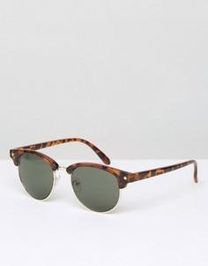 Черепаховые солнцезащитные очки в стиле ретро D-Struct - Коричневый