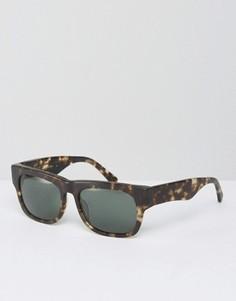 Квадратные солнцезащитные очки в черепаховой оправе Raen Lennox - Коричневый