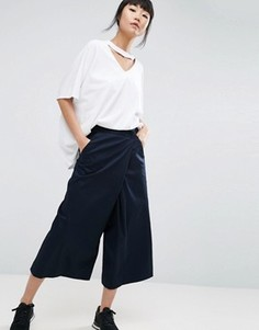 ASOS WHITE Overlap Trousers - Темно-синий