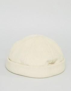 Вельветовая шапка ASOS - Бежевый