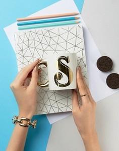 Sass & Belle Letter S Mug - Мульти