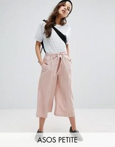 Льняные юбка-брюки ASOS PETITE - Розовый