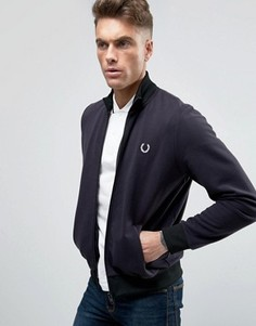 Fred Perry REISSUES Track Jacket Reversed Tricot in Navy - Темно-синий