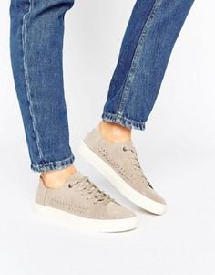 Замшевые кроссовки TOMS Lenox Desert - Серый