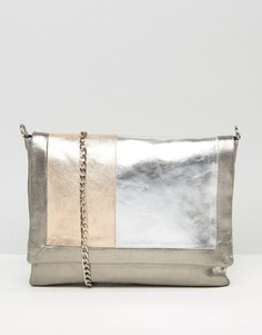 Urbancode Grey Real Leather Tonal Colourblock Bag - Мульти
