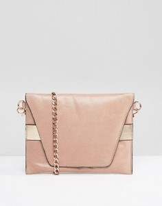 Urbancode Real Leather Cross Body Bag with Rose Gold Band - Розовый