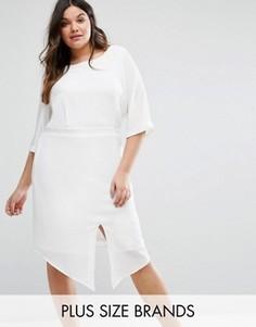 Приталенное платье Junarose - Белый