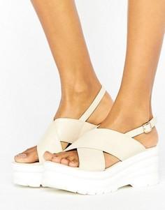 Массивные сандалии с перекрестными ремешками RAID Oscar - Бежевый