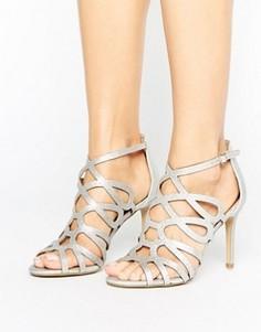 Серебристые решетчатые босоножки Head Over Heels By Dune Mae - Серебряный