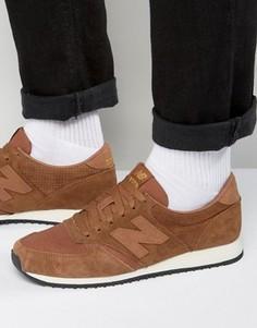 Кроссовки табачного цвета в стиле 70-х New Balance Running 420 U420PTB - Коричневый