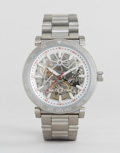 Серебристые часы-браслет с видимым механизмом Michael Kors MK9034 - Серебряный