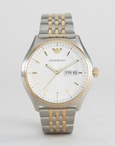 Наручные часы с браслетом из разных металлов Emporio Armani AR11034 - Серебряный