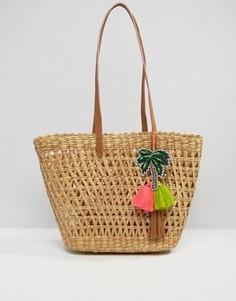 Пляжная сумка-тоут с подвеской-пальмой Star Mela - Мульти